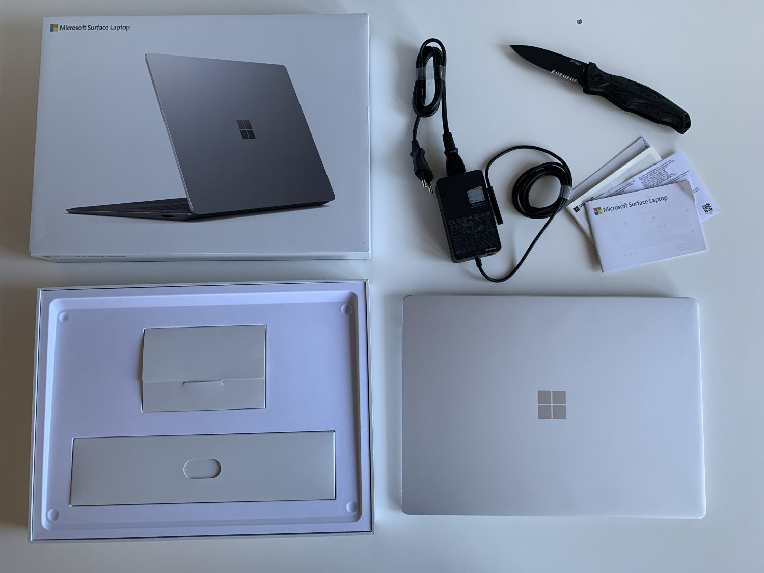 unboxing surface laptop 3