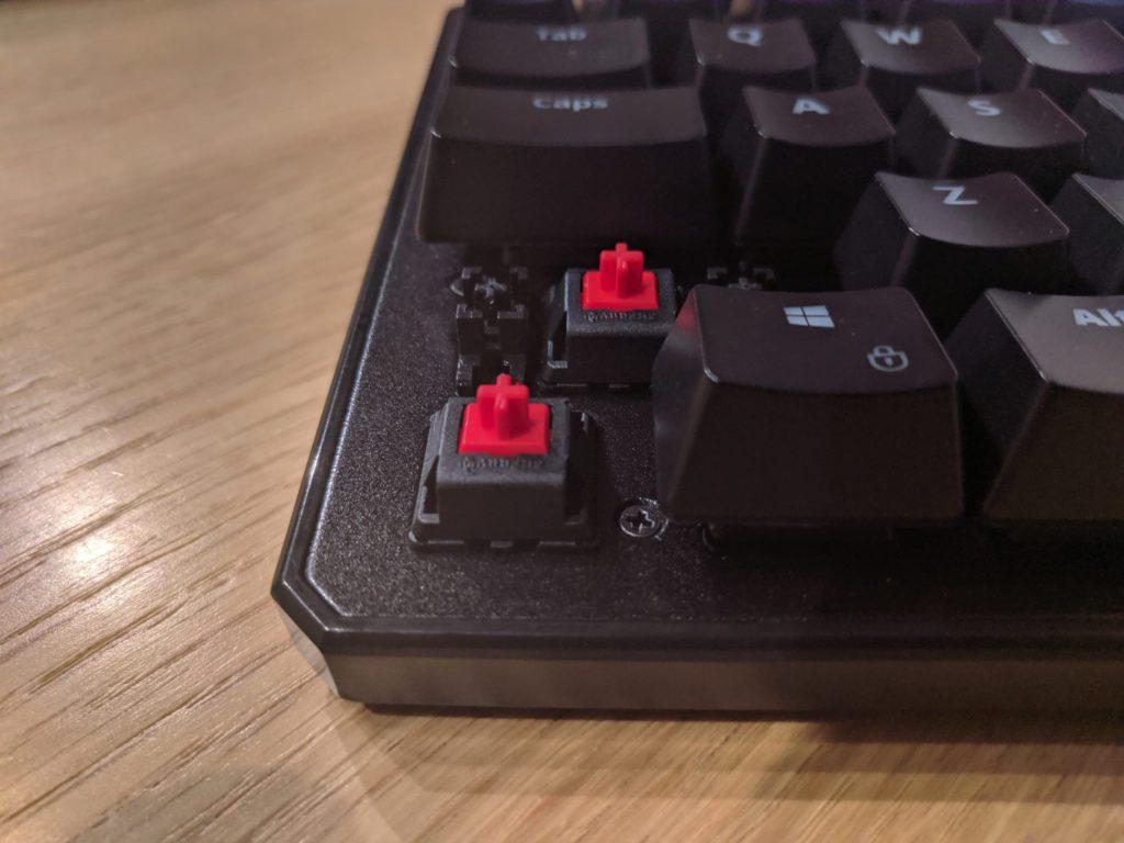 Przełączniki Cherry MX Red w SPC Gear GK530