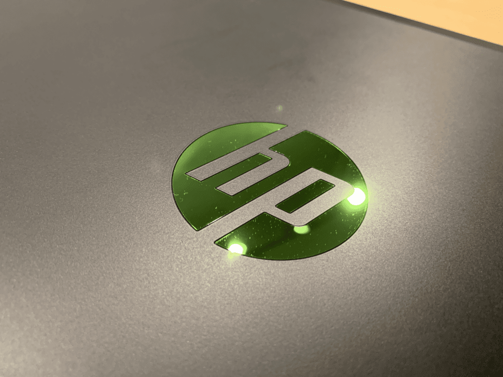 HP pavilion gaming 2019 zielone logo