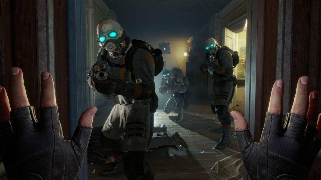 Half-Life Alyx żołnierze kombinatu w pokoju
