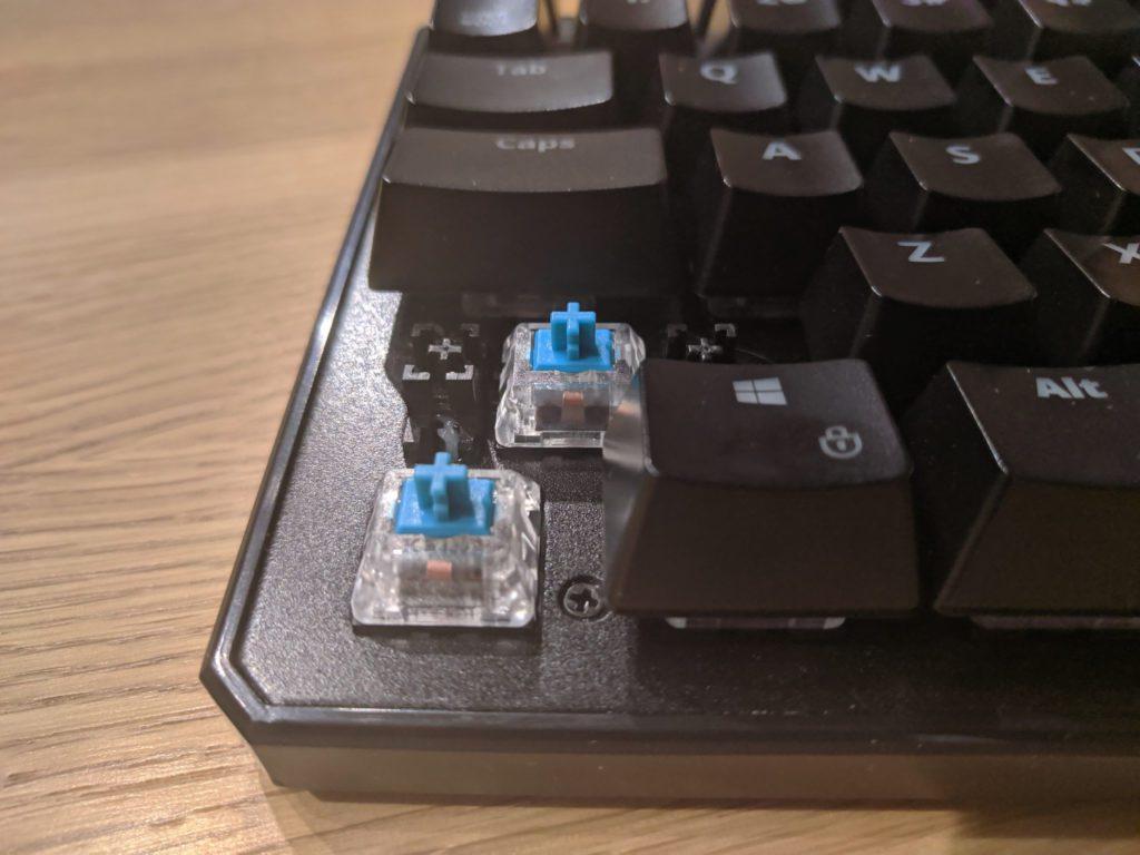 Przełączniki Kailh Blue w SPC Gear GK530