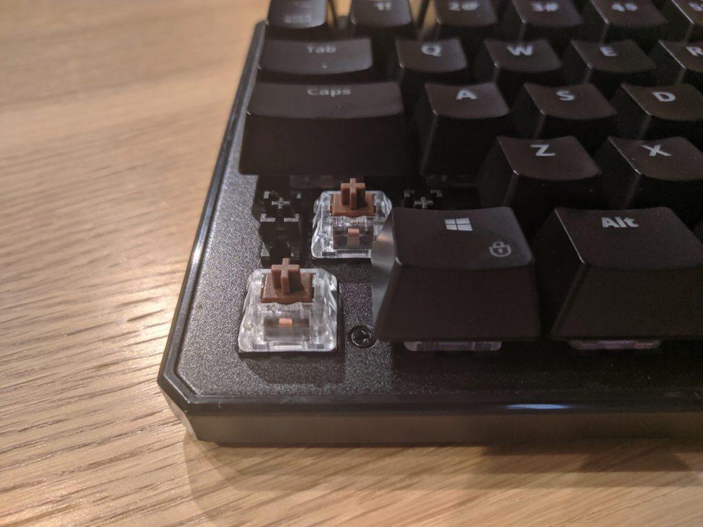 Przełączniki Kailh Brown w SPC Gear GK530