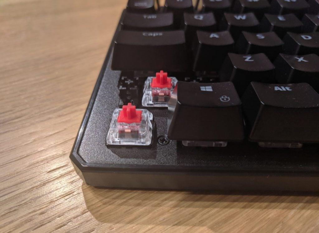 Przełączniki Kailh Red w SPC Gear GK530