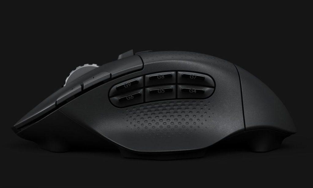 Logitech G604 przyciski boczne