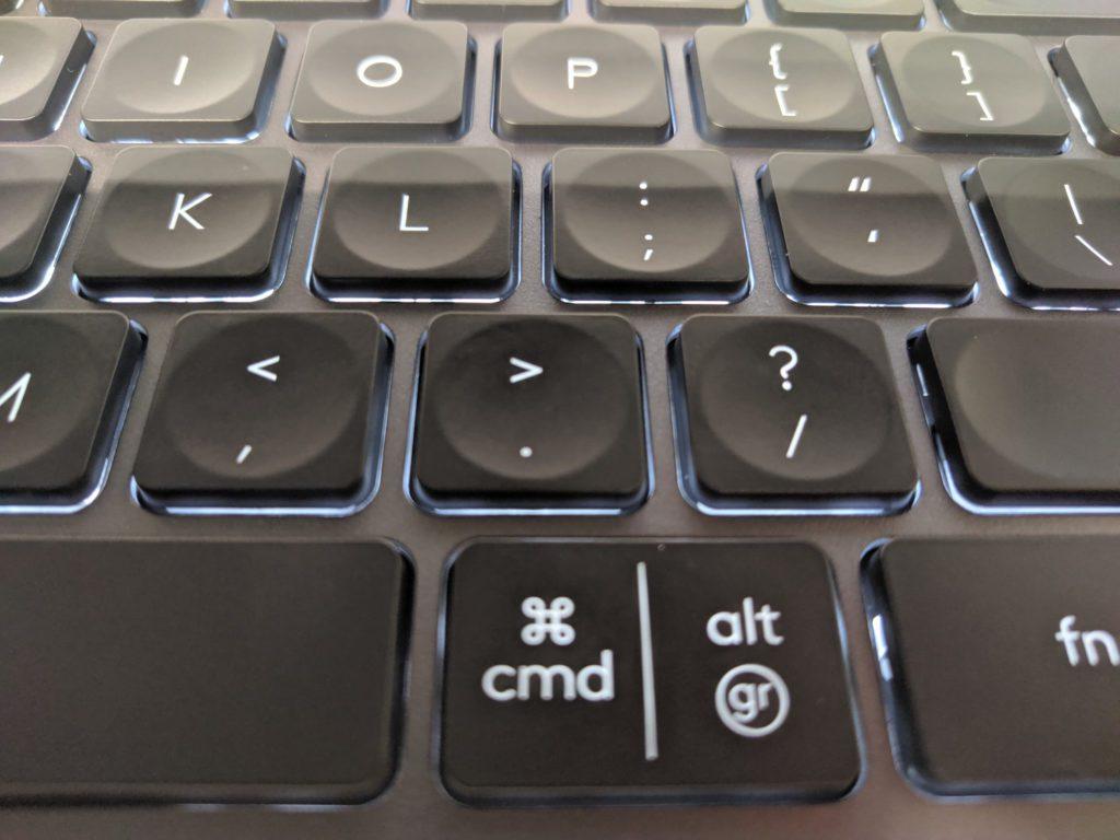 Logitech MX Keys jak wygląda podświetlenie klawiatury