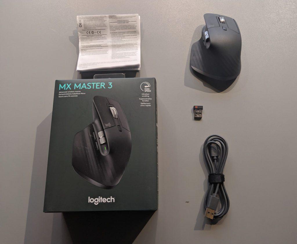 Logitech MX Master 3 zawartość opakowania myszki
