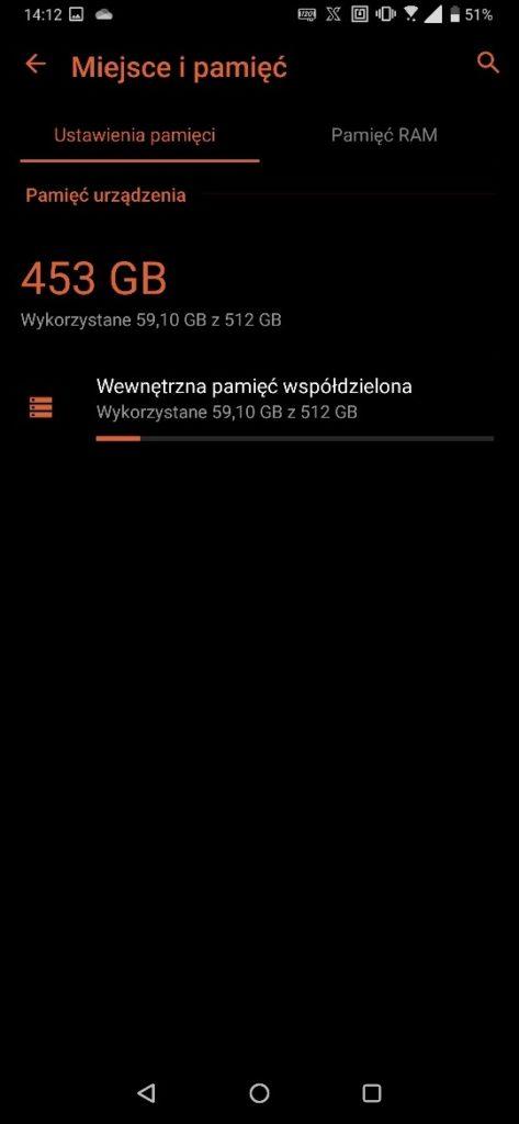 Zrzut ekranu z ASUS ROG Phone II system