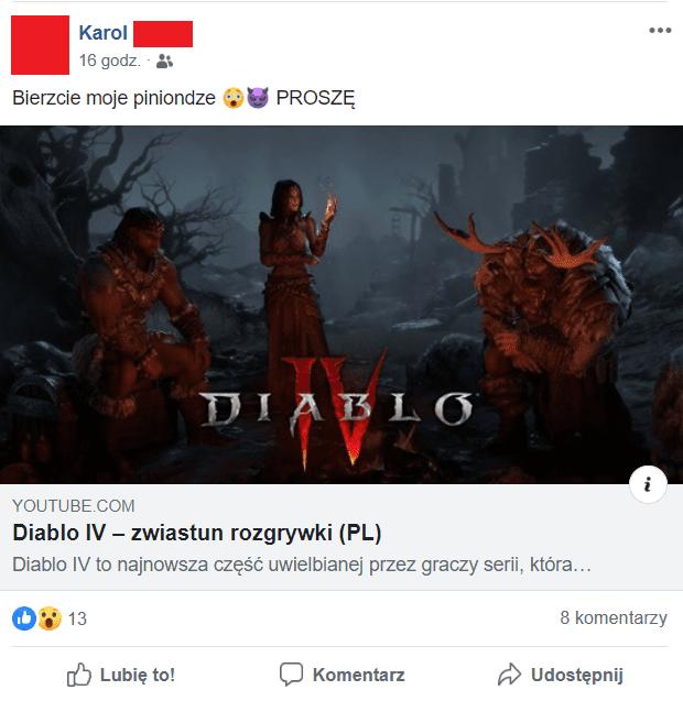 Diablo 4 Facebook