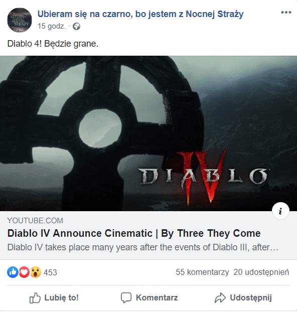 Diablo IV Facebook