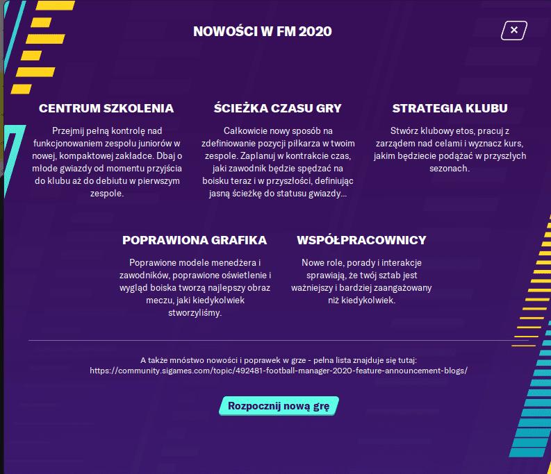 FM 20 lista zmian