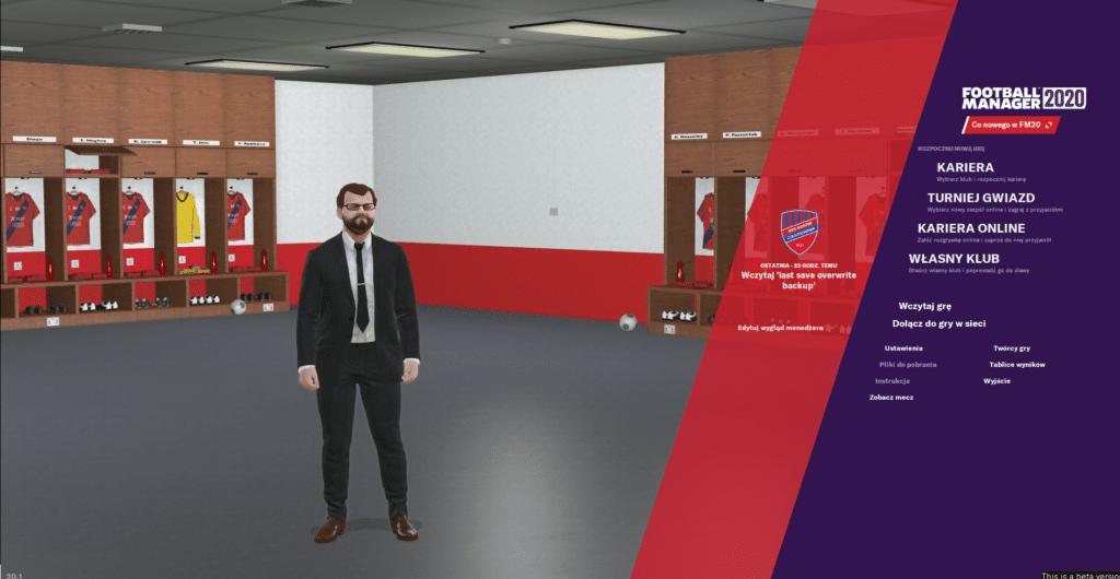 Football Manager 2020 - ekran główny