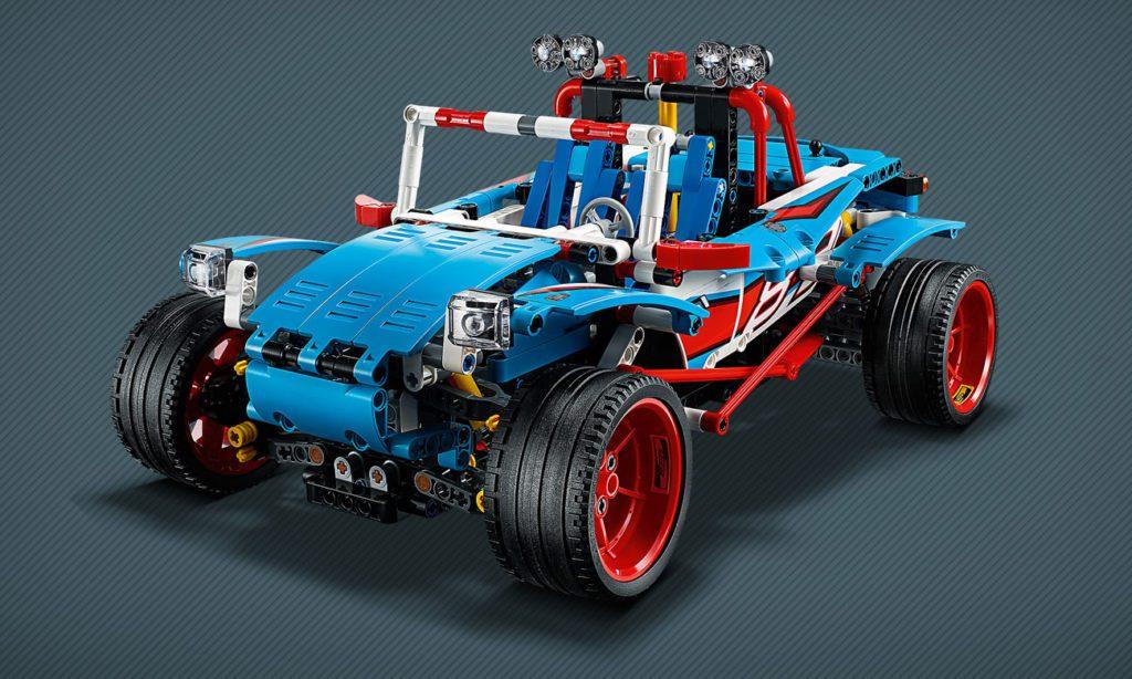 niebieska wyścigówka LEGO Technic