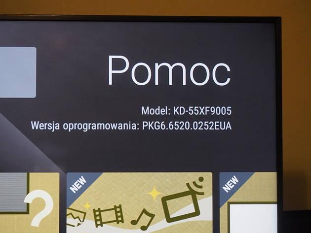 oprogramowanie smart telewizora sony 55xf9005