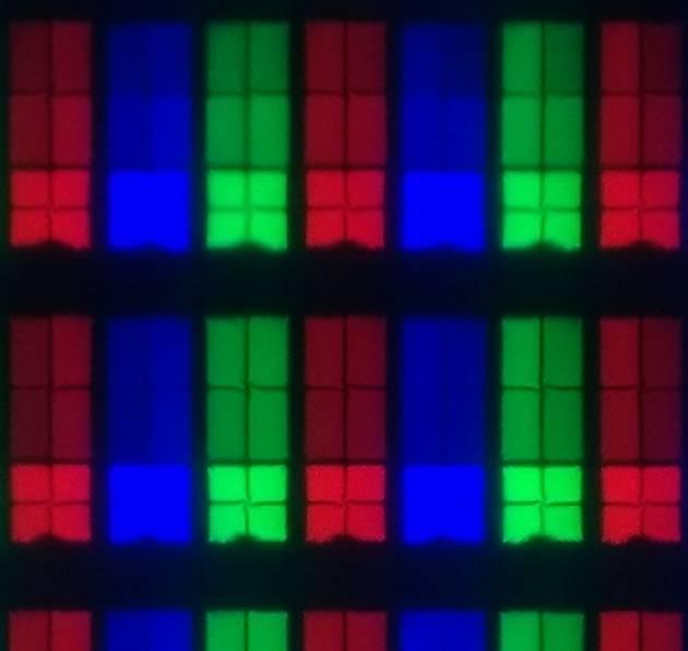 wygląd pikseli matrycy telewizora sony 55xf9005