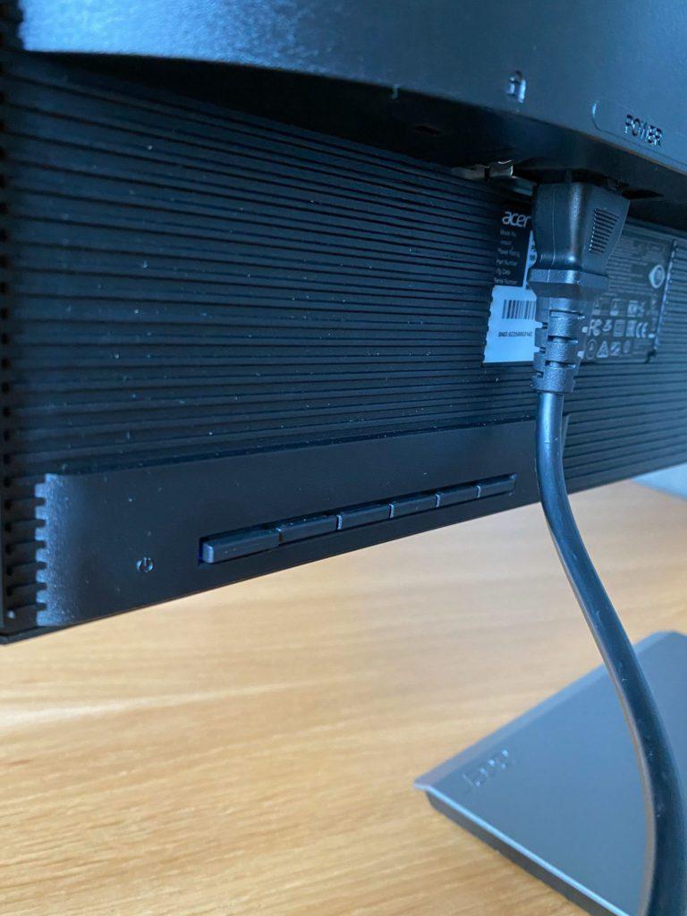 Acer ProDesigner PE270K przyciski