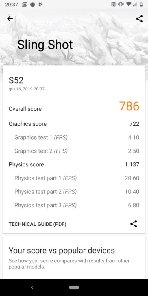 CAT S52 benchmarki
