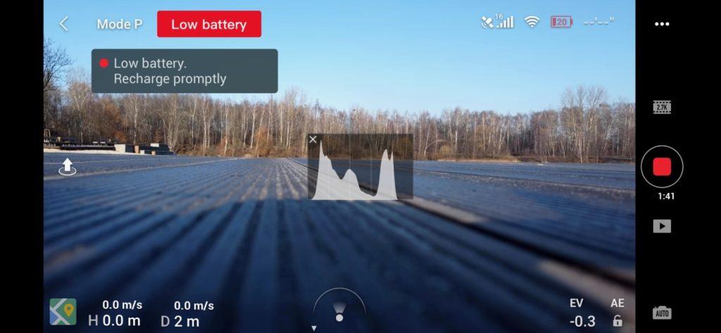 obsługa drona mavic mini