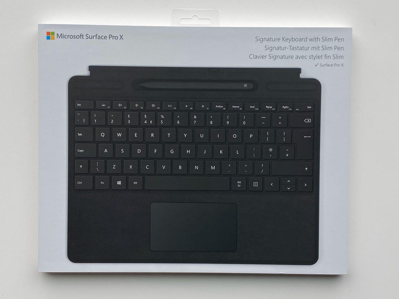 opakowanie klawiatury surface pro x