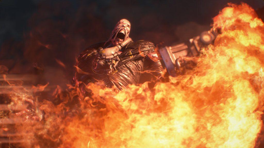 Resident Evil 3 Nemesis w ogniu