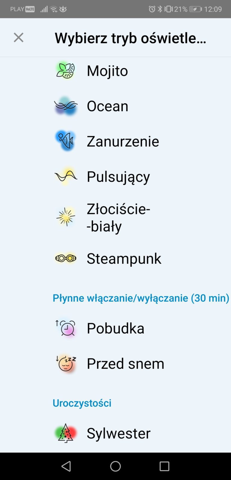 żarówka WiZ Whites aplikacja