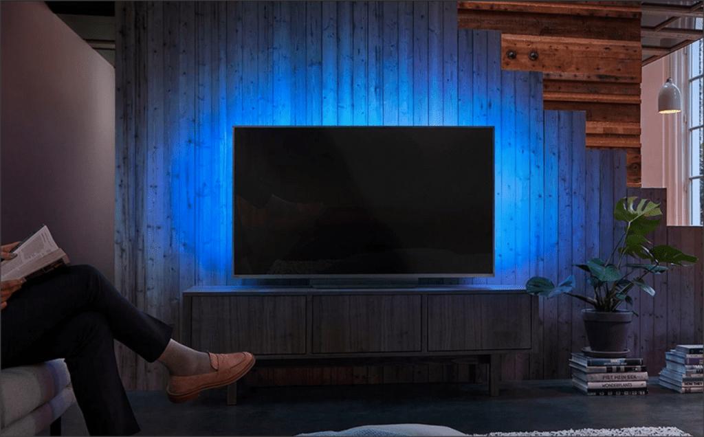 funkcja ambilight lounge light na zdjęciu