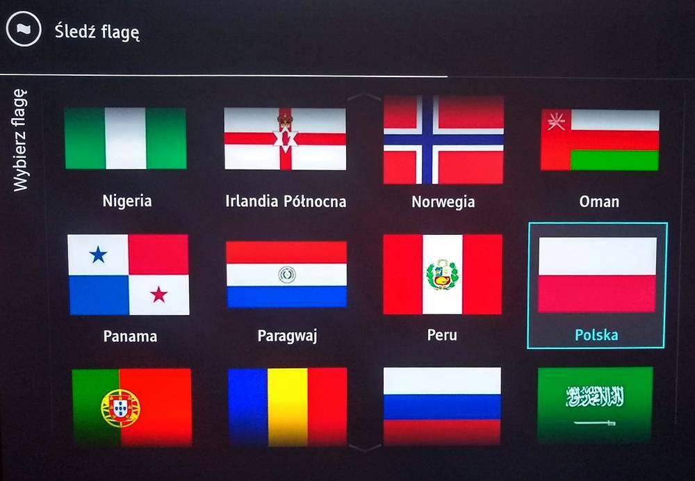 śledzenie flagi w trybie ambilight