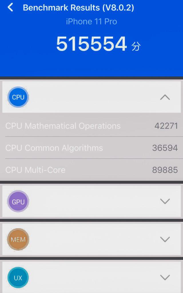 CPU Antutu iPhone 11 Pro