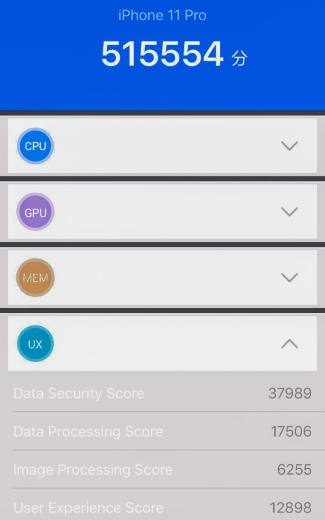 User Experience Antutu iPhone 11 Pro