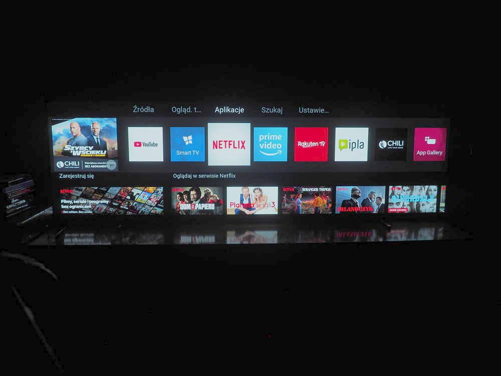 fotografia przedstawiająca system saphi telewizora philips 55oled754