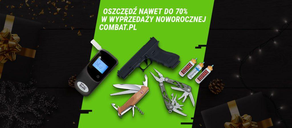 alkomat, pistolet, multitool - grafika promocyjna combat