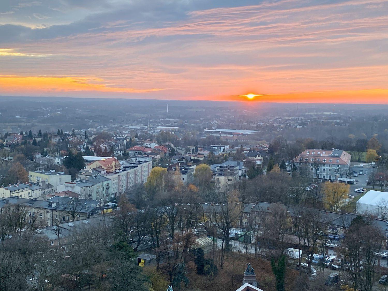 Zachód słońca w Częstochowie