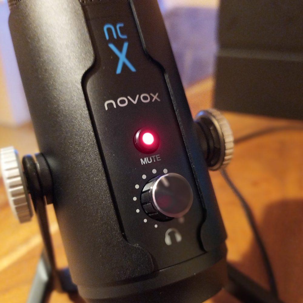 funkcja wyciszania mikrofonu novox ncx