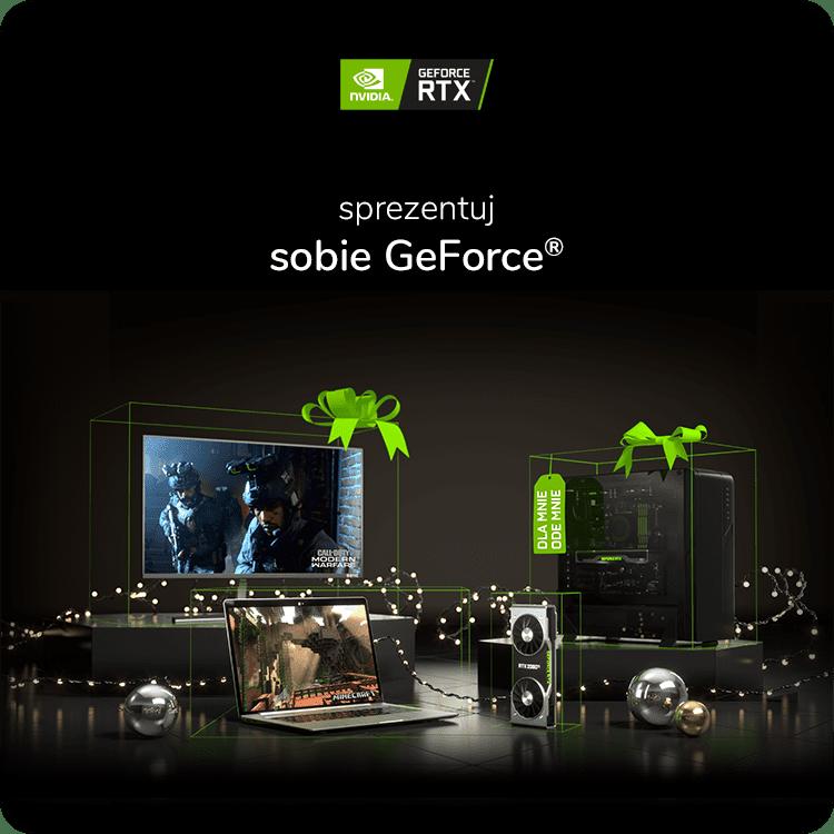 Sprezentuj sobie gamingowy sprzęt GeForce z rabatem