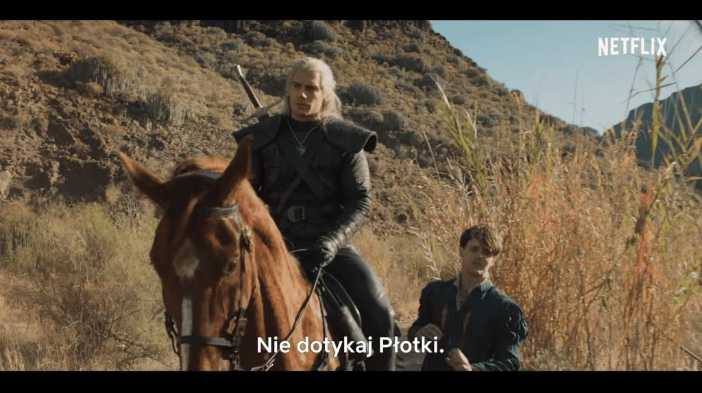 Netflix Geralt Płotka Jaskier