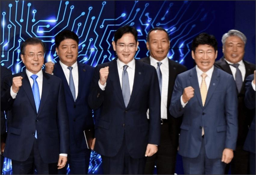 spotkanie przedstawicieli marki Samsung z władzami korei południowej