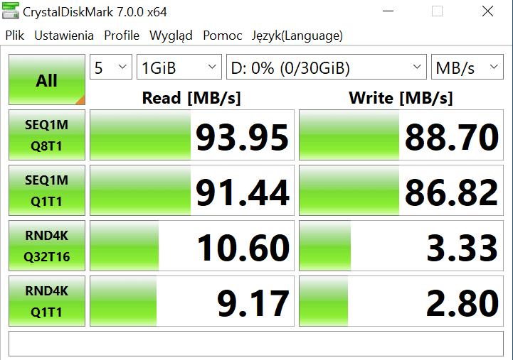 sandisk extreme pro 32gb cystaldiskmark