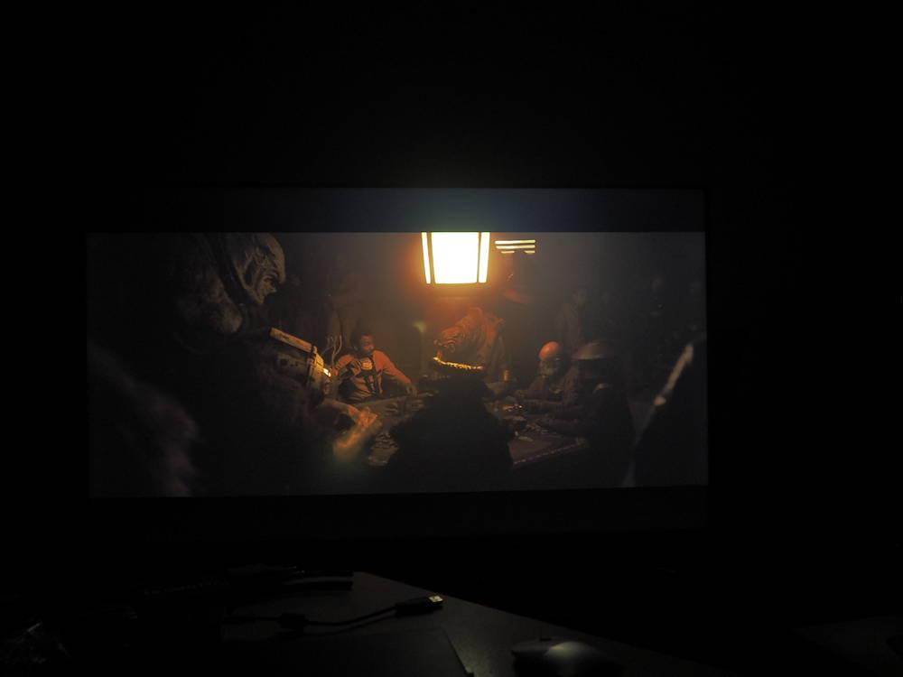 scena pokazująca działanie stref podświetlenia w telewizorze sony 55xg9505