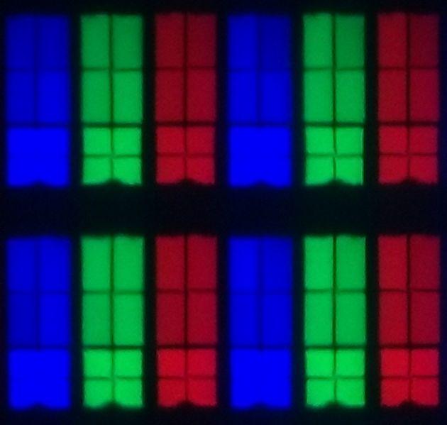 wygląd pikseli matrycy telewizora sony 55xg9505