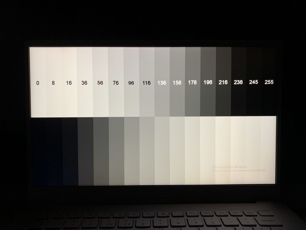 Dell Inspiron 5490 kąty widzenia szarość i czerń