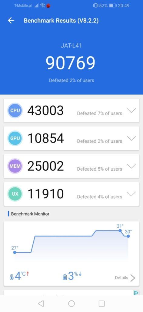 Huawei Y6s benchmark