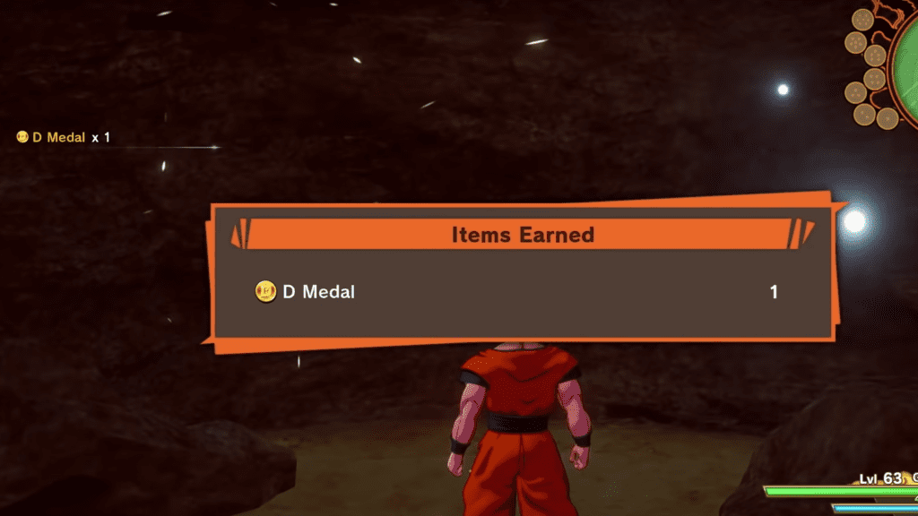 dragon ball z kakarot d medal