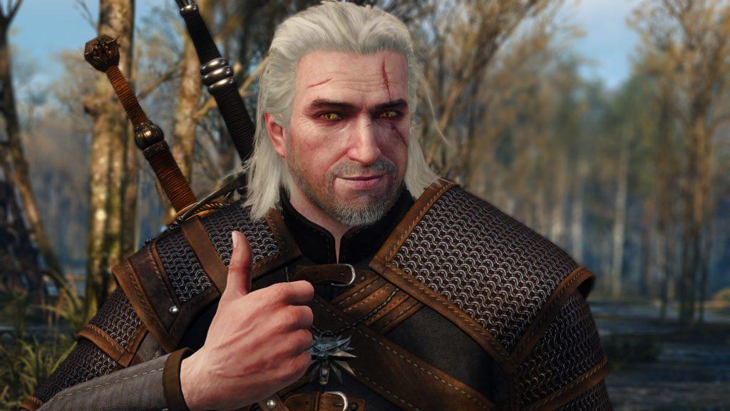 Geralt kciuk w górze