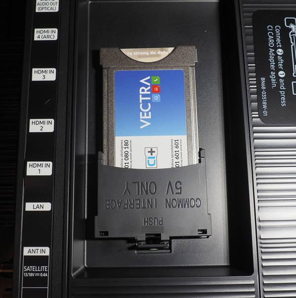 instalacja modułu common interface w telewizorze marki samsung