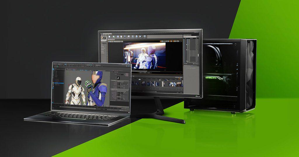 laptop i monitor nvidia studio