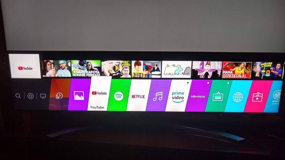 zdjęcie przedstawiające interfejs systemu tv