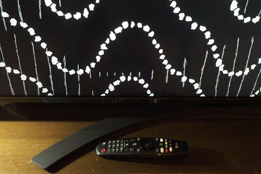 nóżka i pilot telewizora LG55SM8600