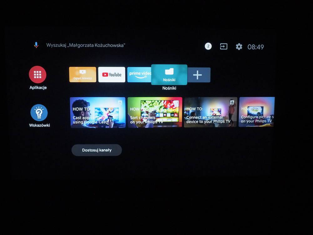 android tv w telewizorze philips 50pus8804