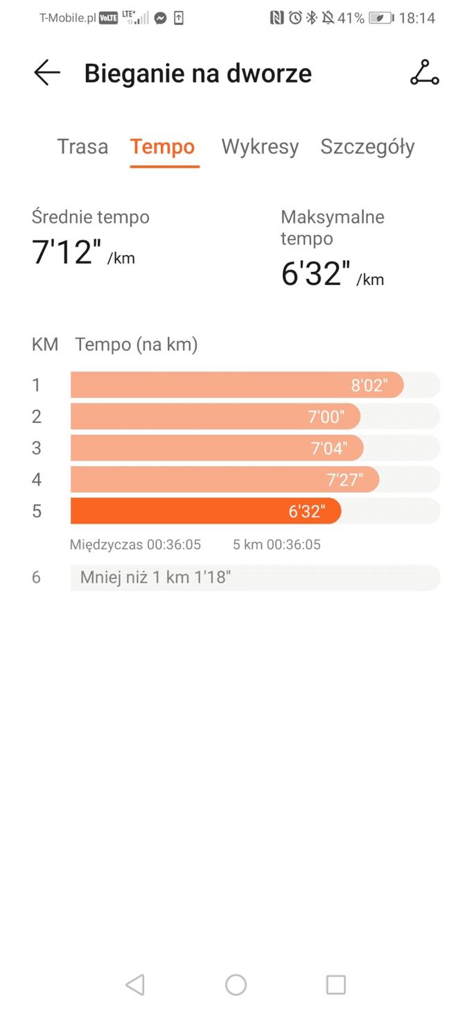 bieganie huawei band 4 pro statystyki aplikacja
