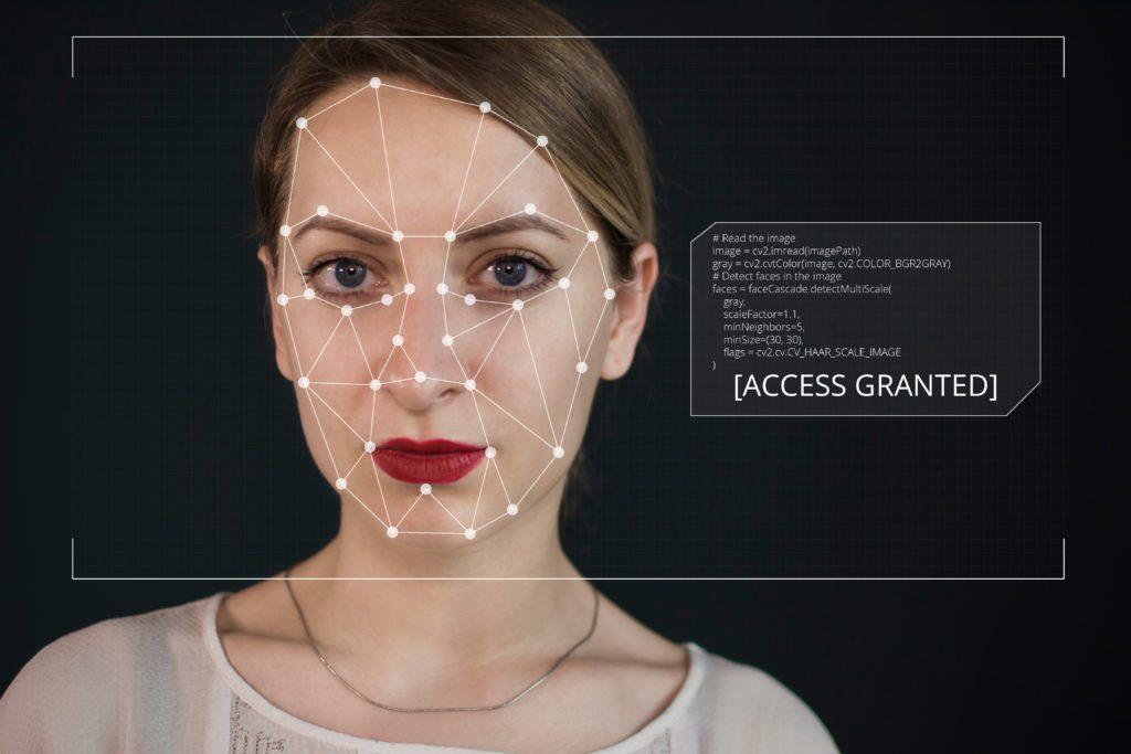 Deepfake twarz kobiety