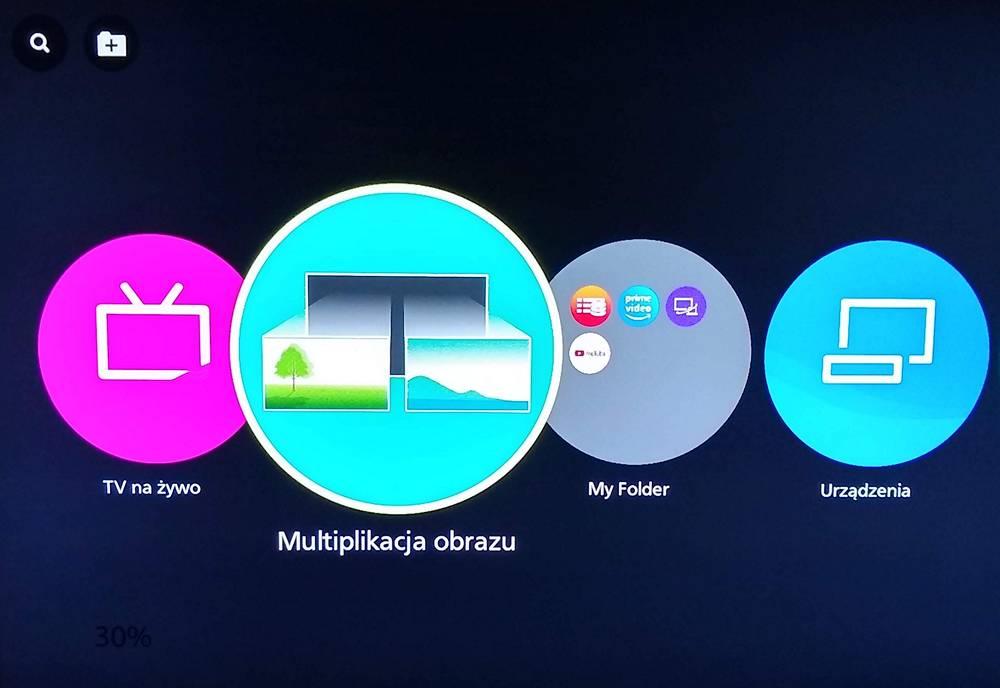 ekran menu telewizora panasonic